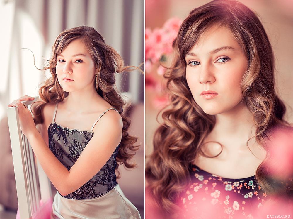 портрет девочки в студии, фотосессия на день рождения. Kate BLC Photography. Family photographer in Russia