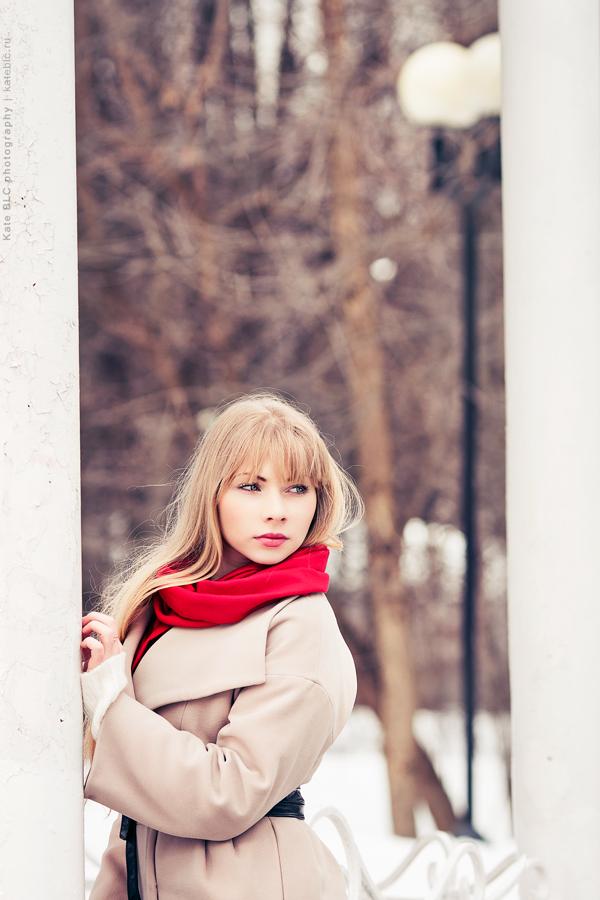 Зимняя фотосессия на улице. Фотограф Катрин Белоцерковская