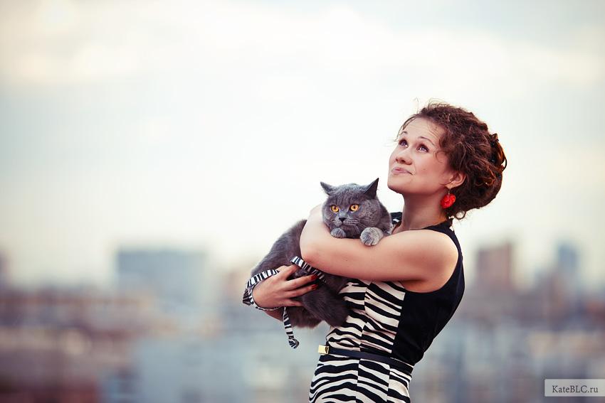 Девушка на крыше. Портретная фотосессия. Фотограф Катрин Белоцерковская.