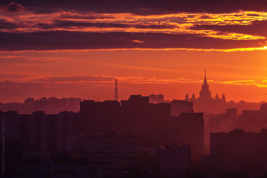 Закат в Москве. Фотограф Катрин Белоцерковская. Kate BLC