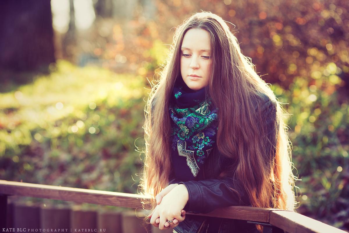 Девушка. Солнце. Осень.