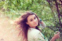 Портреная весенняя фотосессия. Девушка. Цветение. Фотограф Катрин Белоцерковская. kateblc