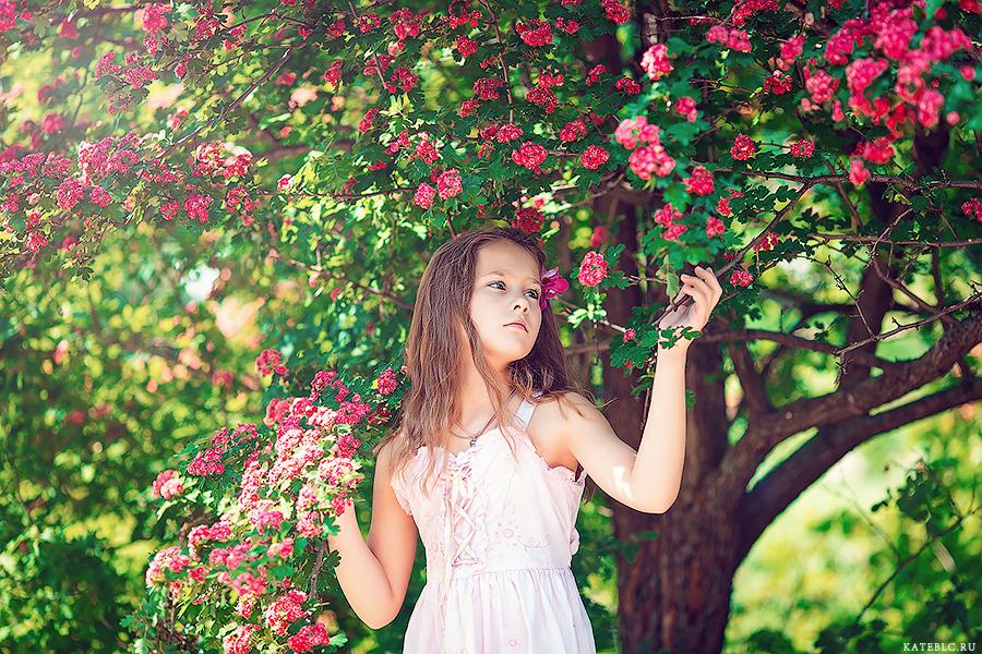фотосъемка цветения. детские фотографии