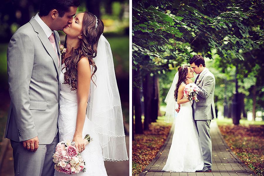 Свадебная фотосессия в Екатерининском парке. Осенняя свадьба в Москве