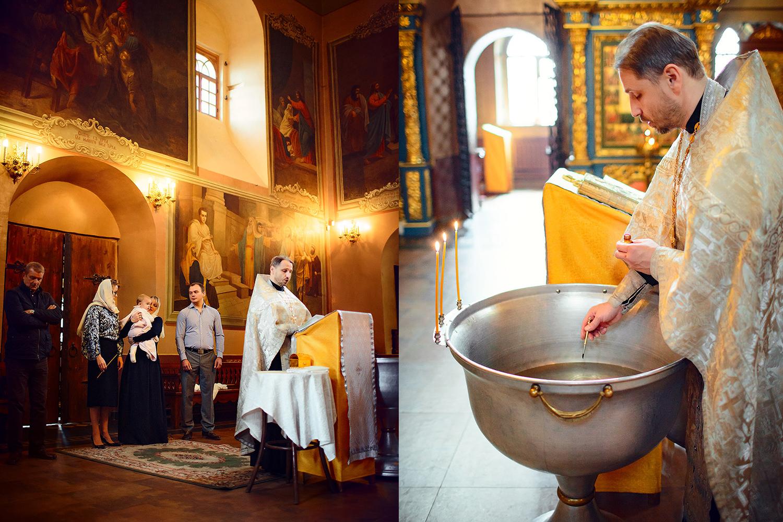 Фотосессия крещения в храме