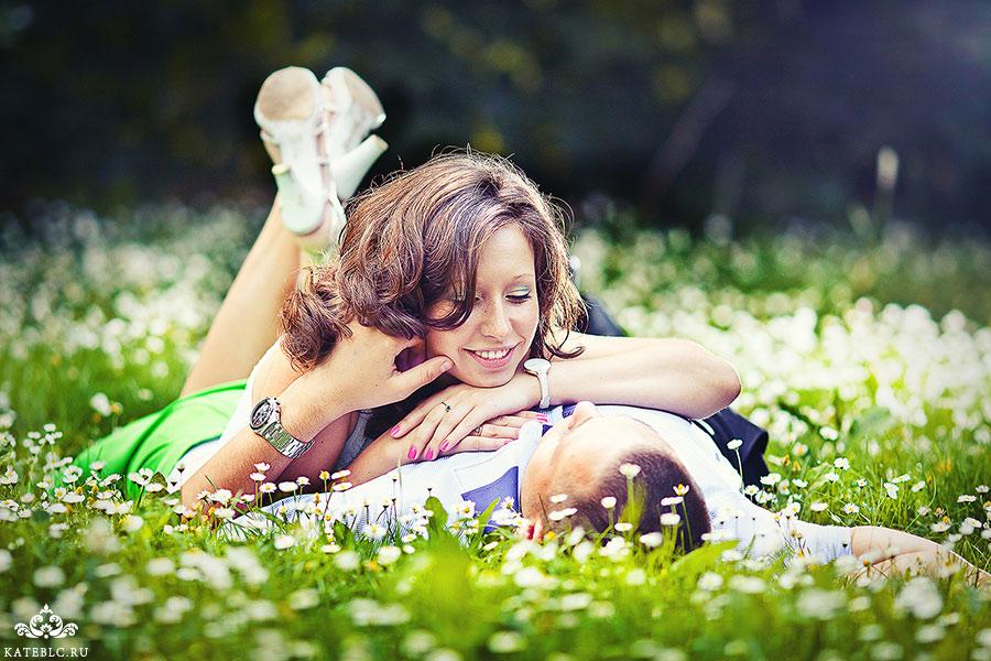 Фотосессия love story в парке