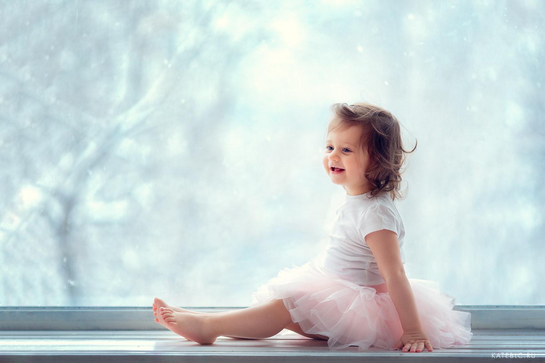 Весенняя фотосессия для девочки полтора года