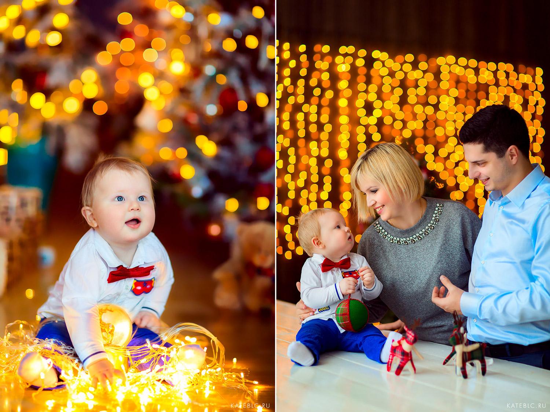 новогодняя фотосессия для малыша 10 месяцев