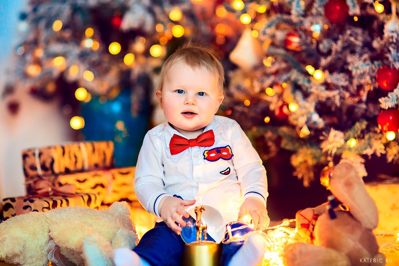 Новогодняя сеейная фотосессия для детей до года. Катрин Белоцерковская, kateblc.ru