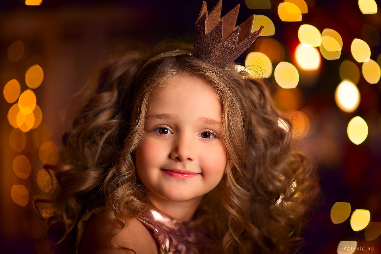 Детская фотосессия для девочки на новый год в москве