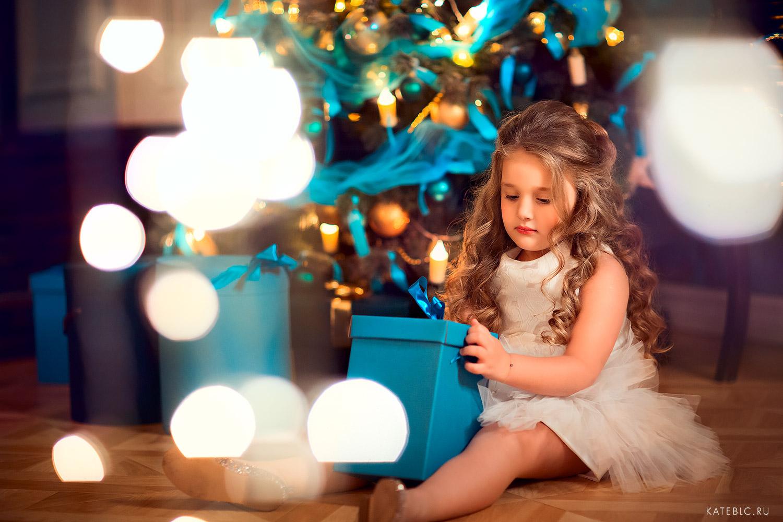 новогодняя фотосессия для девочка 5 лет в студии
