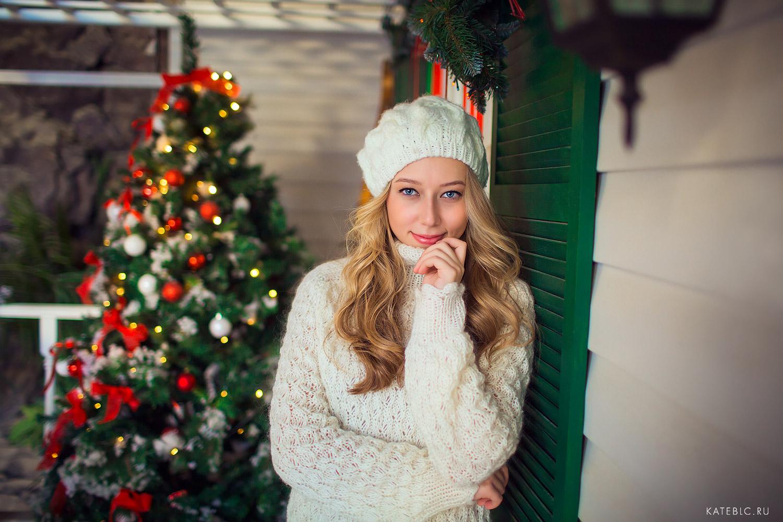 фотосессия для девушки в новогодней студии в москве