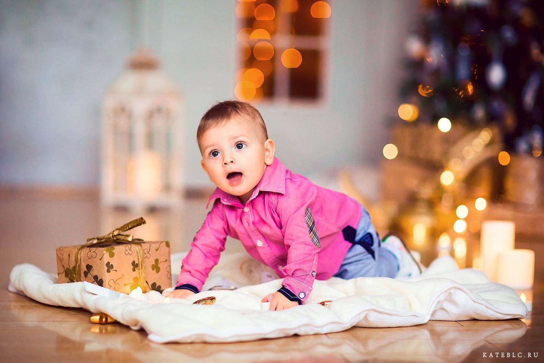 Фотосессия для малышей на новый год