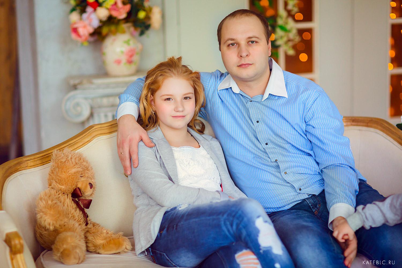 Папа и дочка. Семейный фотограф Катрин Белоцерковская
