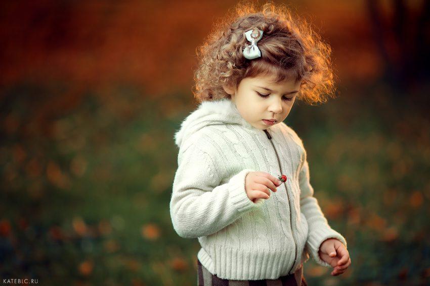детская фотосессия осенью