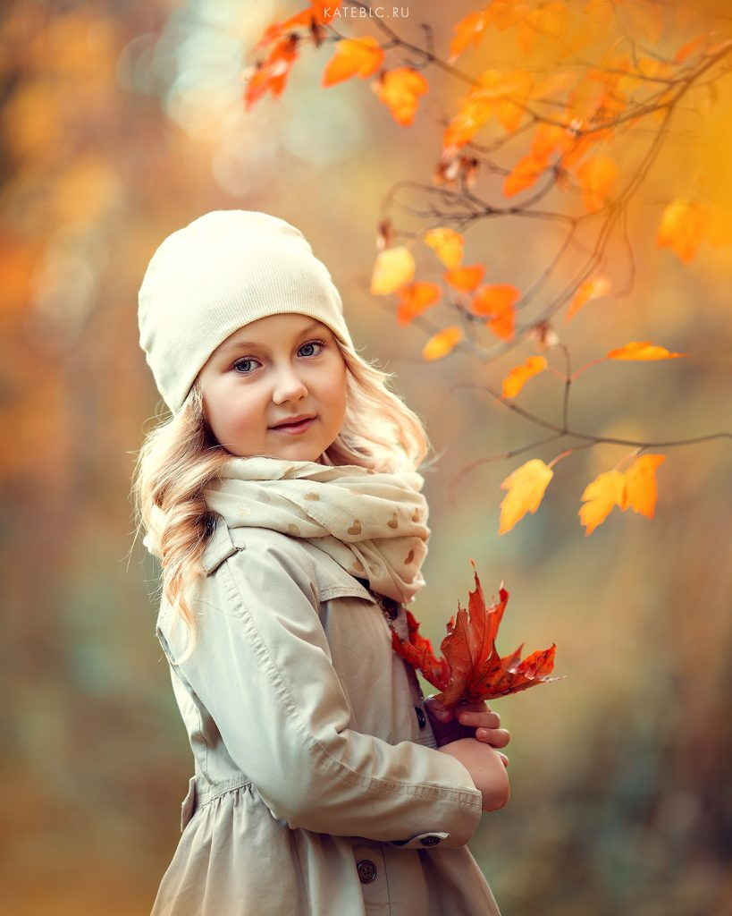 фотосессия для девочки осенью