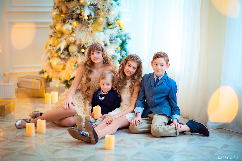 детская новогодняя фотосессия в январе