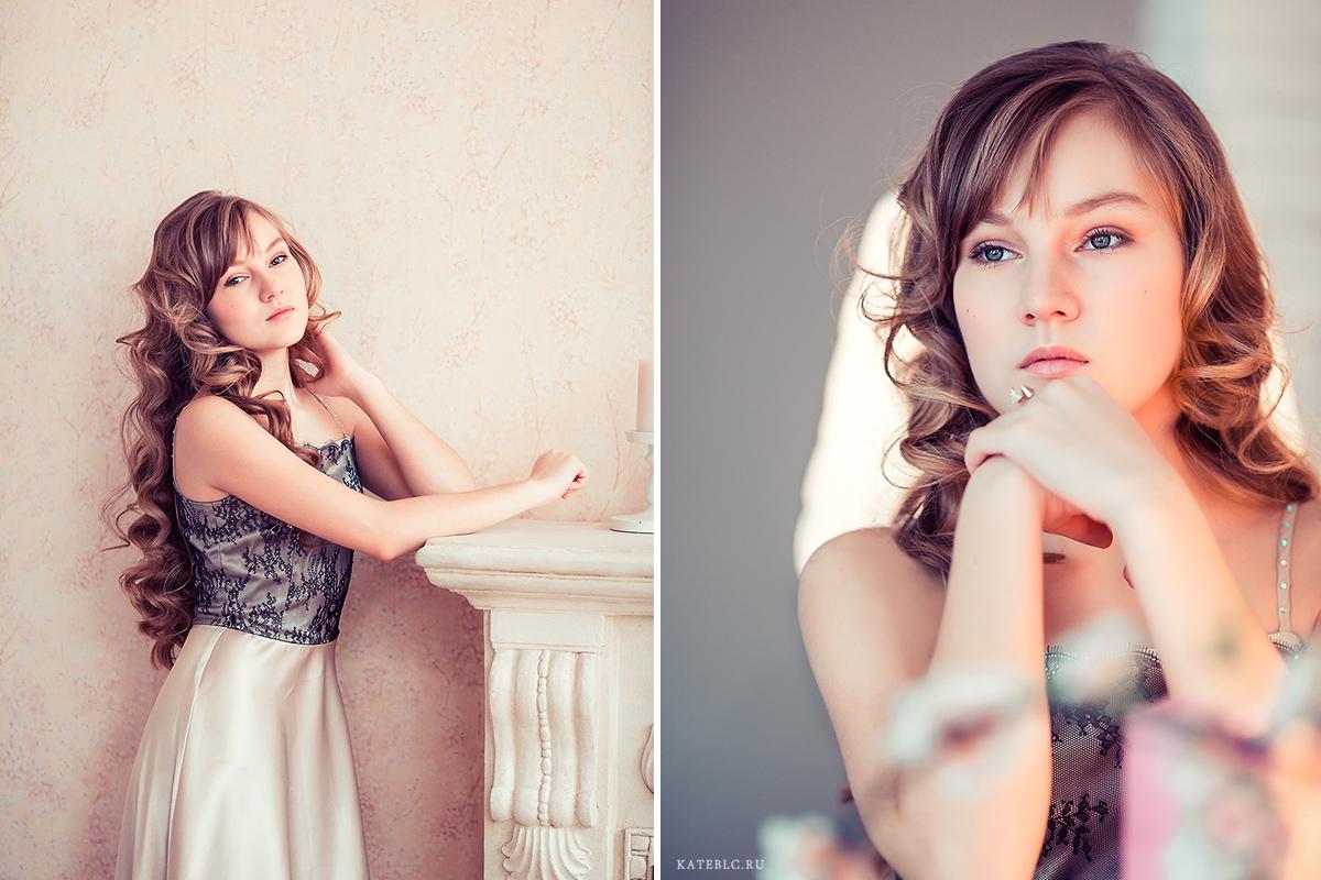 Портрет девочки 14 лет в студии. Детская фотосессия в фотостудии шоколад. Kate BLC Photography