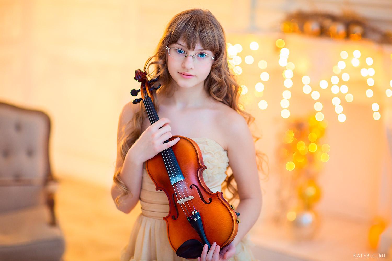 девочка со скрипкой фотосессия