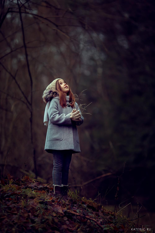 фотосессия в лесу для девочки.