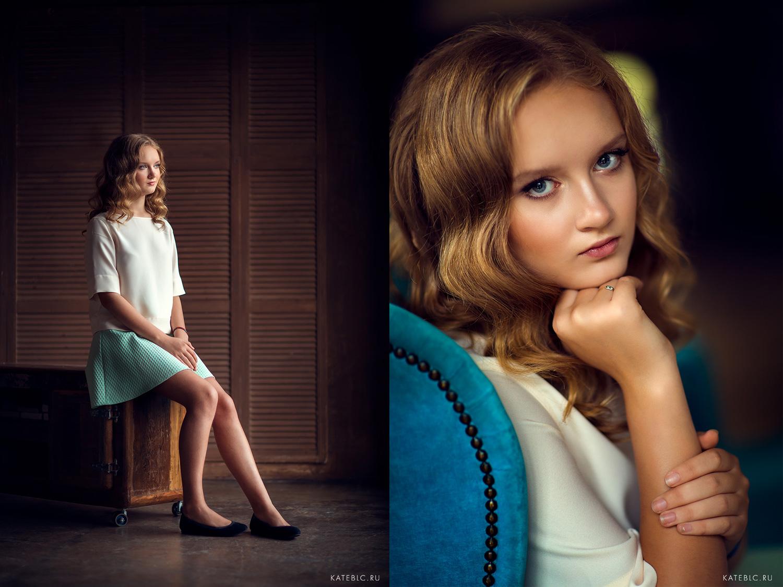 Портретные фотосессии для девушек в студии. Фотограф в Москве Катрин Белоцерковская
