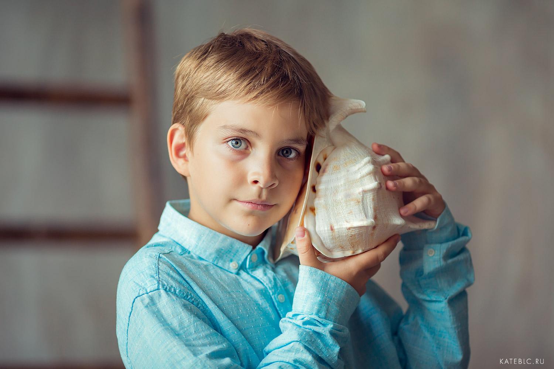 Портретная фотсоессия для детей в студии