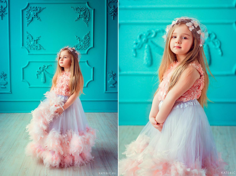 Девочка в пышном розовом платье. портретная фотосессия для девочки. Детский фотограф в Москве Катрин Белоцерковская