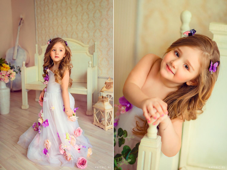 Портрет девочки в студии. Детский фотограф в Москве Катрин Белоцерковская