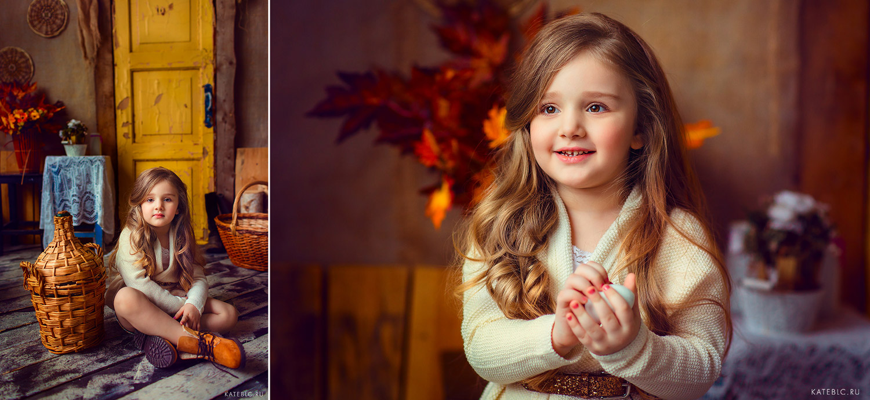 Осенние фотосессии в студии. Детский и семейный фотограф в Москве Катрин Белоцерковская