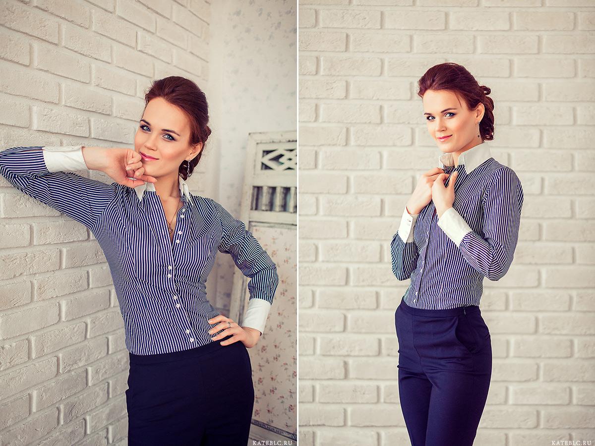 Фотосъемка в офисной одежде в студии. Фотограф Катрин Белоцерковская kateblc.ru