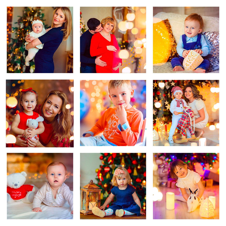 новогодние фотографи детей в студии