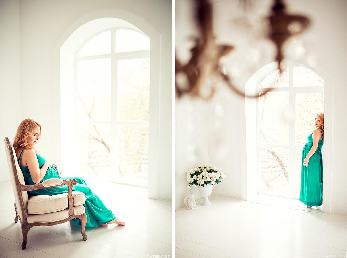 Фотосессия беременности в студии. Фотограф: Катрин Белоцерковская kateblc.ru