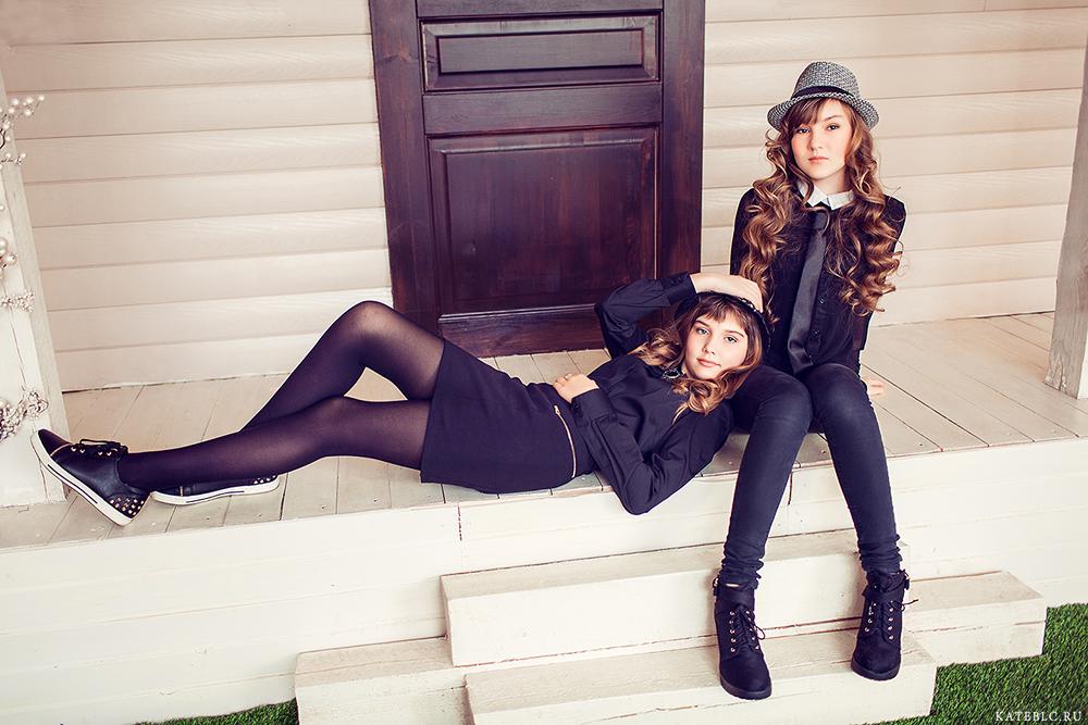 Две девочки в фотостудии. Kate BLC Photography