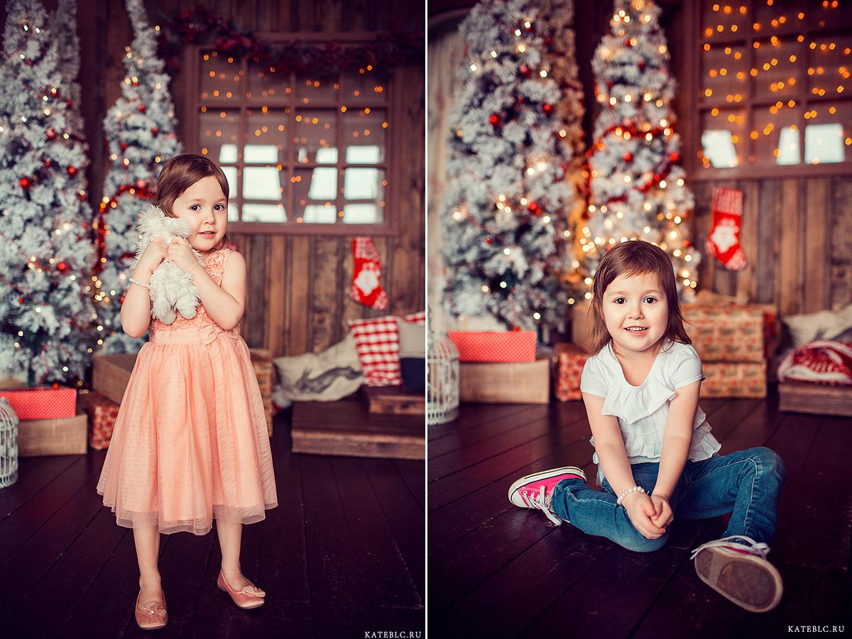 яркая новогодняя фотосессия для девочки. Фотограф Катрин Белоцерковская