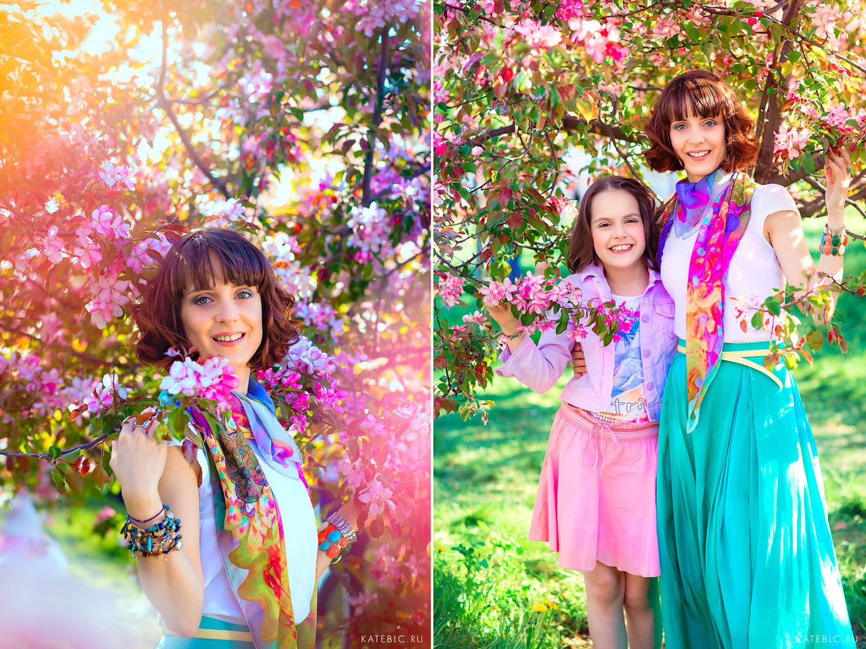 Фотосессия в парке для мамы и дочки