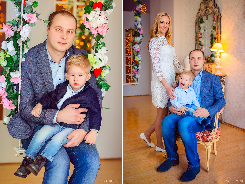 Семейная фотосессия в фотостудии в Москве.Детский и Семейный фотограф Катрин Белоцерковская