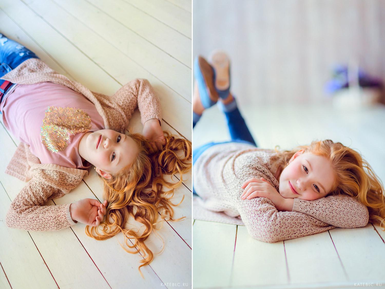 Фотосессия для девочек в студии в Мосвке. Детский и Семейный фотограф Катрин Белоцерковская