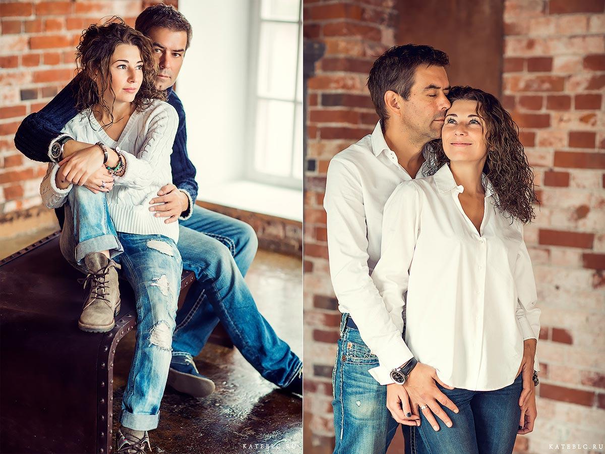 Фотосессия для семьи в фотостудии лофт. Семейный фотограф в Москве