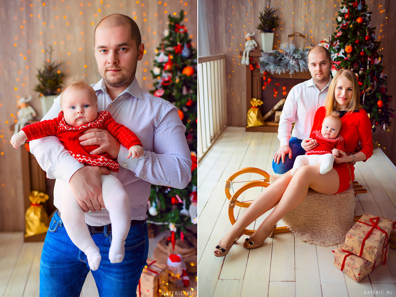 Фотосессия в студии для семьи с малышом