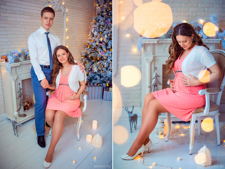 Фотосессия в ожидании малыша. Беременная фотосессия в студии.