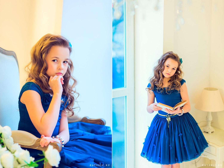 Портрет девочки в студии. Фотограф Катрин Белоцерковская