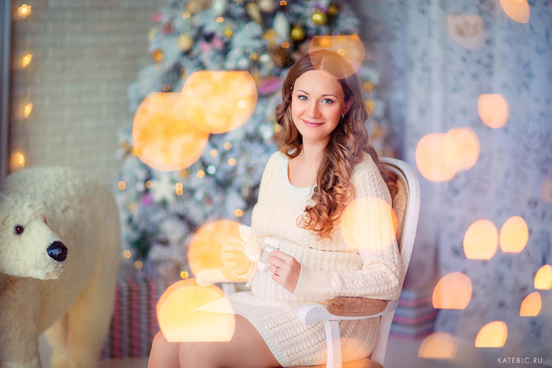 Красивая фотосессия беременности в студии Москва. Фотограф Катрин Белоцерковская kateblc.ru