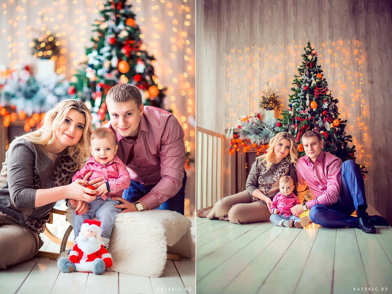 Новогодняя фотосессия в студии. Фотограф Катрин Белоцерковская