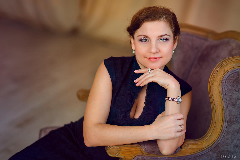 Женский портрет в студии. Семейный фотограф Катрин Белоцерковская kateblc.ru