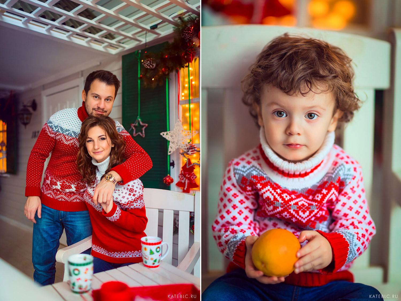 Новогодняя фотосессия в студии кросс фото. Фотограф Катрин Белоцерковская