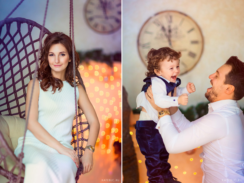 Фотосъемка в новогодней студии для семьи в москве