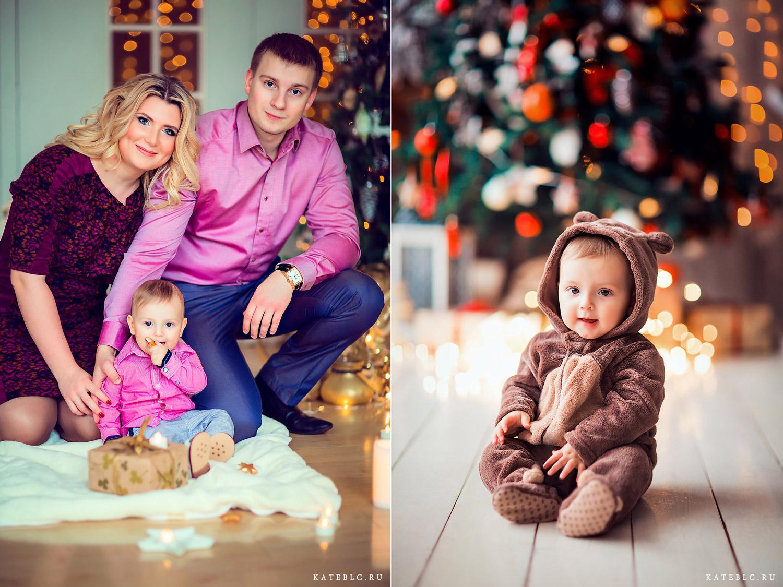 Фотосессия на новый год для семьи