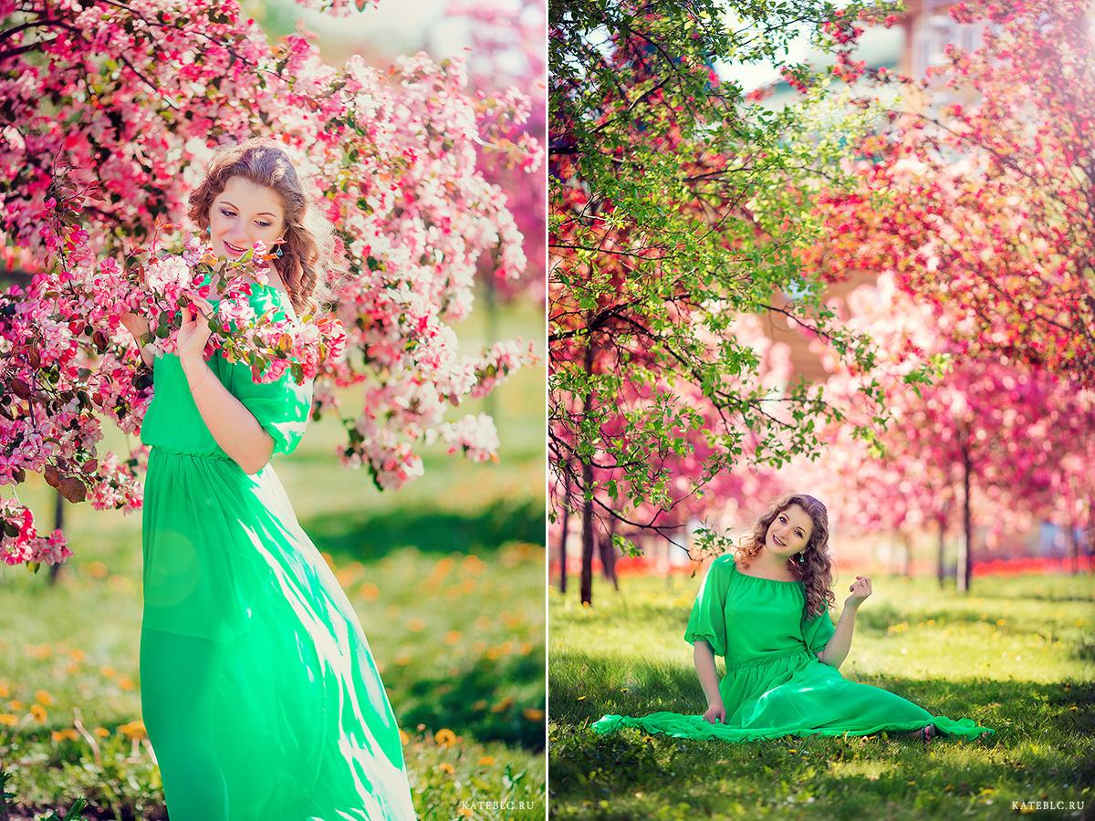 Яркая фотосессия цветения в коломенском